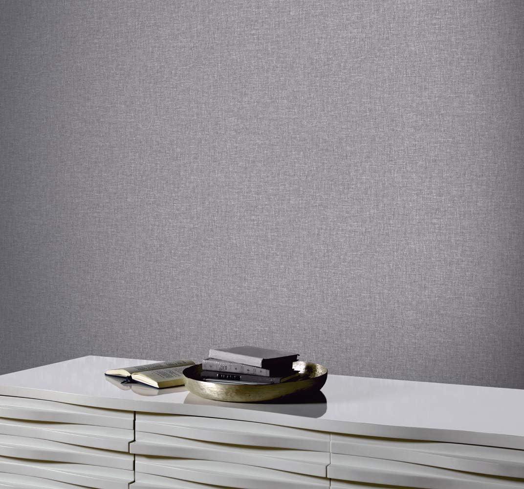 Super fresco Matrix Textured Plain Metallic Charcoal Grey Wallpaper 100473