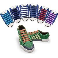 "Matlan Agujetas Elásticas ""Arrow"" para zapatos casuales, hombre o mujeres. Agujetas de colores - blanco, negro, gris…"
