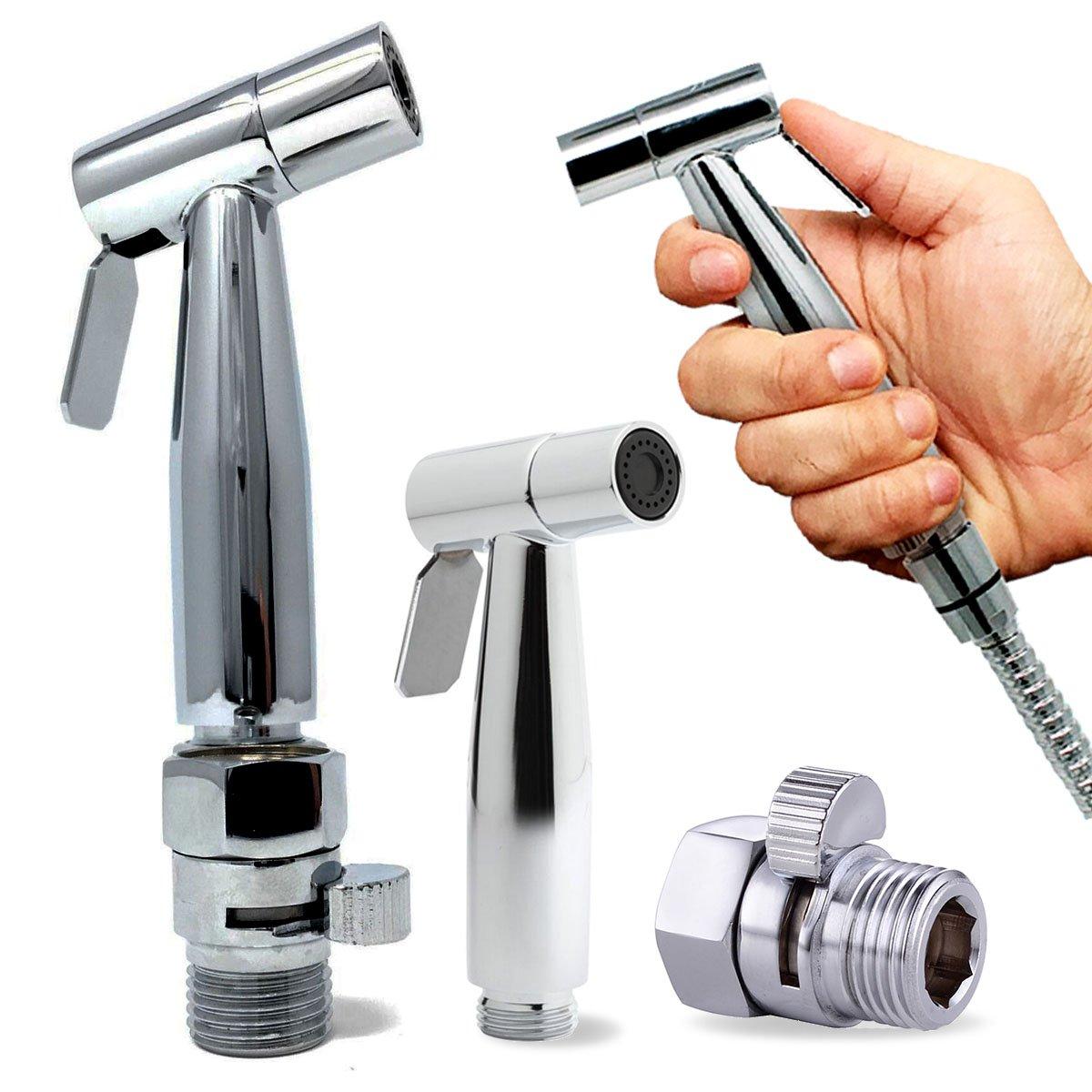Strong/Soft Diaper Sprayer with Pressure Control Valve/Handheld Diaper Sprayer for Toilet/Bidet Toilet Sprayer – Perfect Bottom Cleaner/Personal Hygiene with the Private Bidet Sprayer