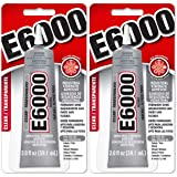 E6000 237032 Craft Adhesive, 2 fl oz Clear, 2 Pack