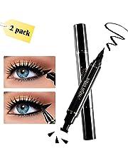 Eyeliner, Winged Eyeliner, 2 Pens Double Sided, Matte Black Liquid Eyeliner, Waterproof, Smudge-Proof, For Perfect Wings & Cat Eyes by WONTECHMI