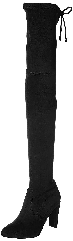 Kaitlyn Pan Microsuede High Heel Over The Knee Thigh High Boots B016LPUS8G 9.5US/ 40.5EU/ 42CN|Black