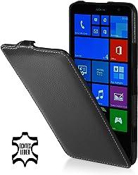 StilGut UltraSlim Case, custodia in vera pelle per Nokia Lumia 1320, nero