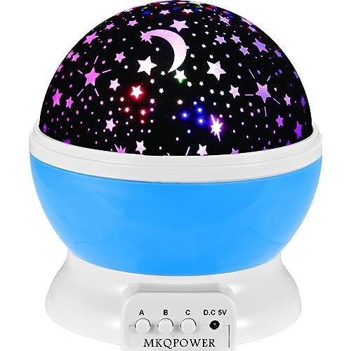 MKQPOWER Nachtlicht/Lampe/Projektor, Sterne und Sonne, 4LEDs, Entspannende Stimmung für Baby-/Kinderzimmer/Schlafzimmer, Geschenkidee