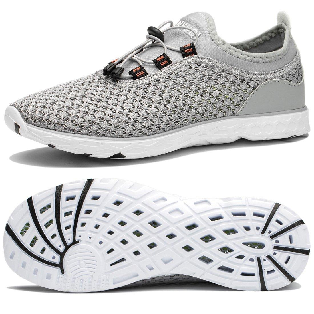 TIANYUQI Women's Mesh Slip On Water Shoes B073TDGGJ6 42EU/11US|Gray