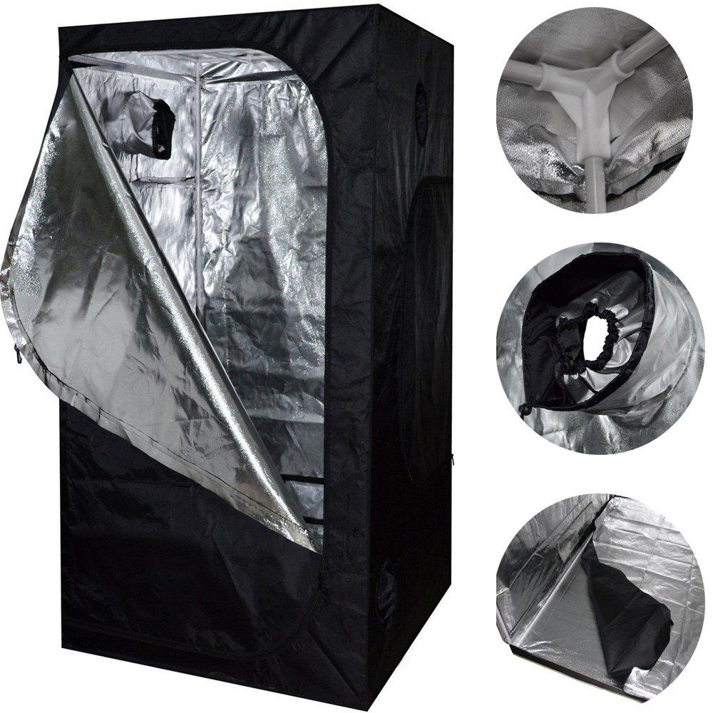 Neu 80X80X160 Grow Zelt Bud Dark Grün Zimmer Hydroponics Box Mylar Silber Billig