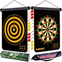 RaboSky Magnetic Dart Board for Kids, Safe Dart Game Toy for Age 6 7 8 9 Year Old...