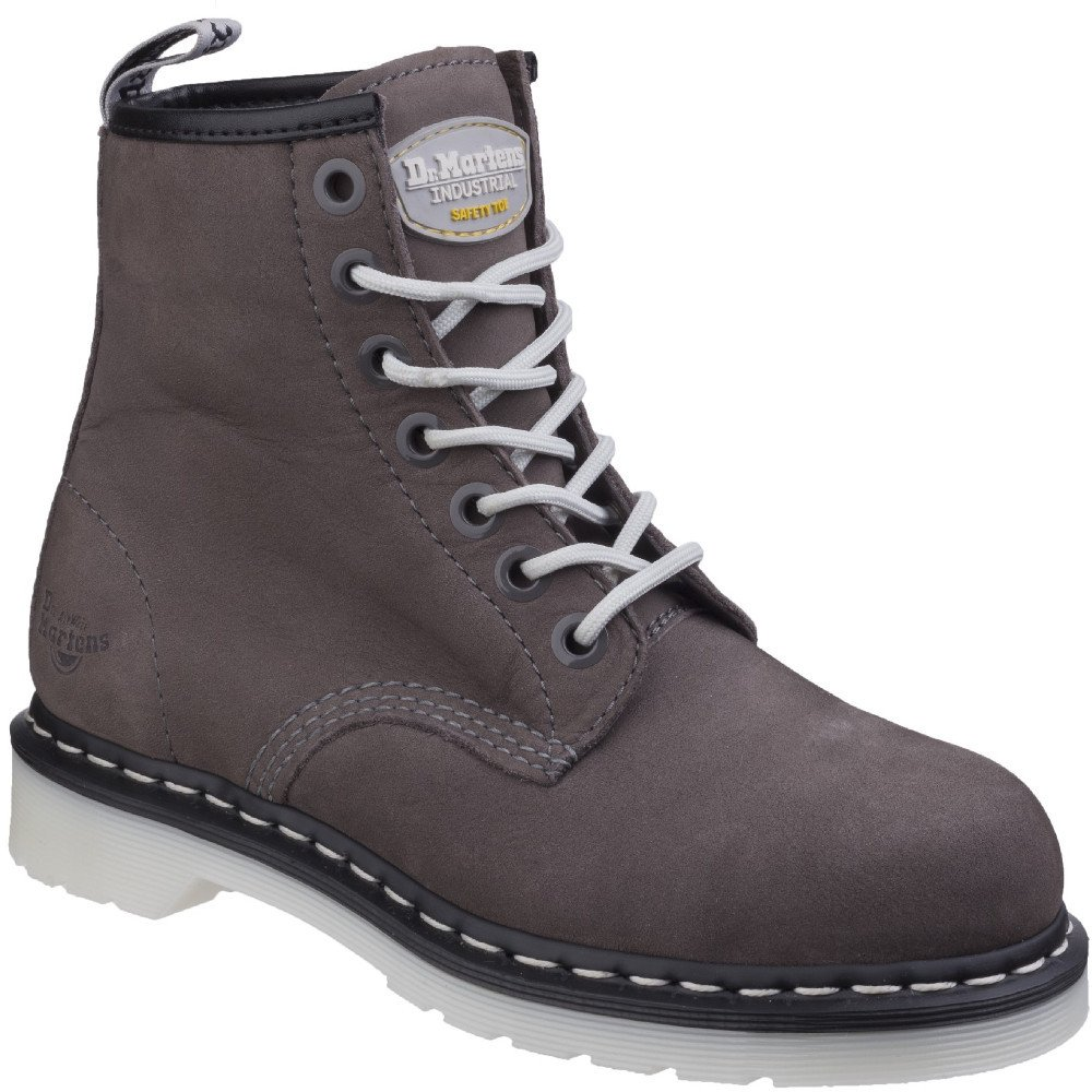 Dr. Martens Work Womens Maple Steel Toe 7-Eye Boot B0748VNK4Y 5 B UK|Grey