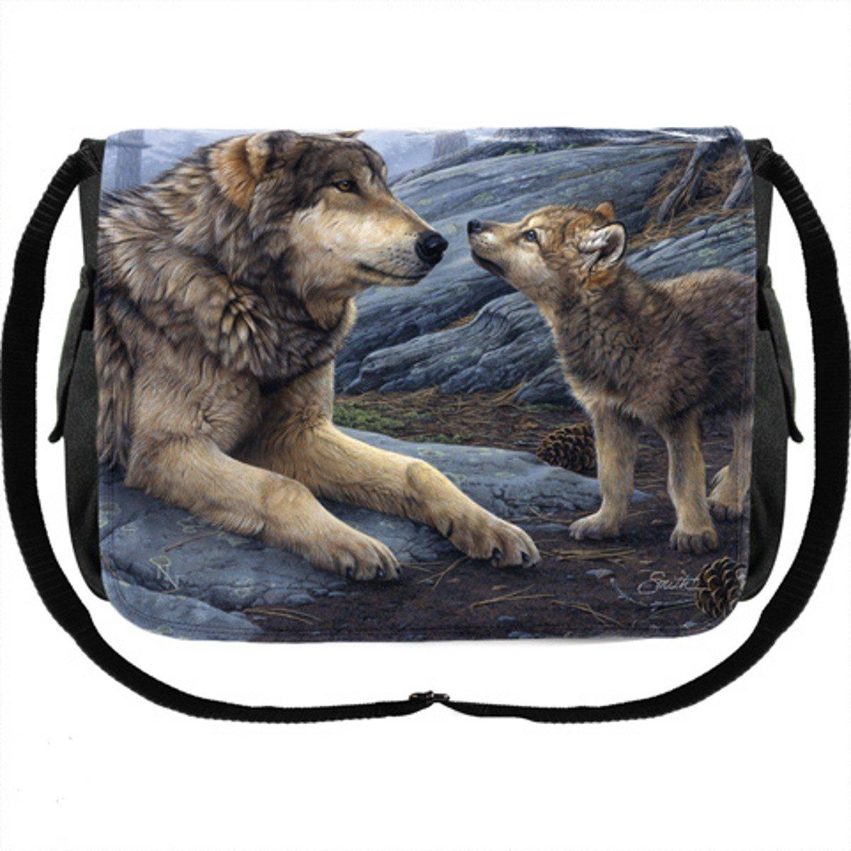 Dark Dreams Gothic Wicca Pagan Hexe Magier Magier Magier Tasche Messenger Bag Wolf Wölfe d93a11