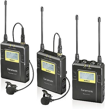 Saramonic Uwmic9-TX9+TX9+RX9 - Sistema de micrófono de Solapa ...