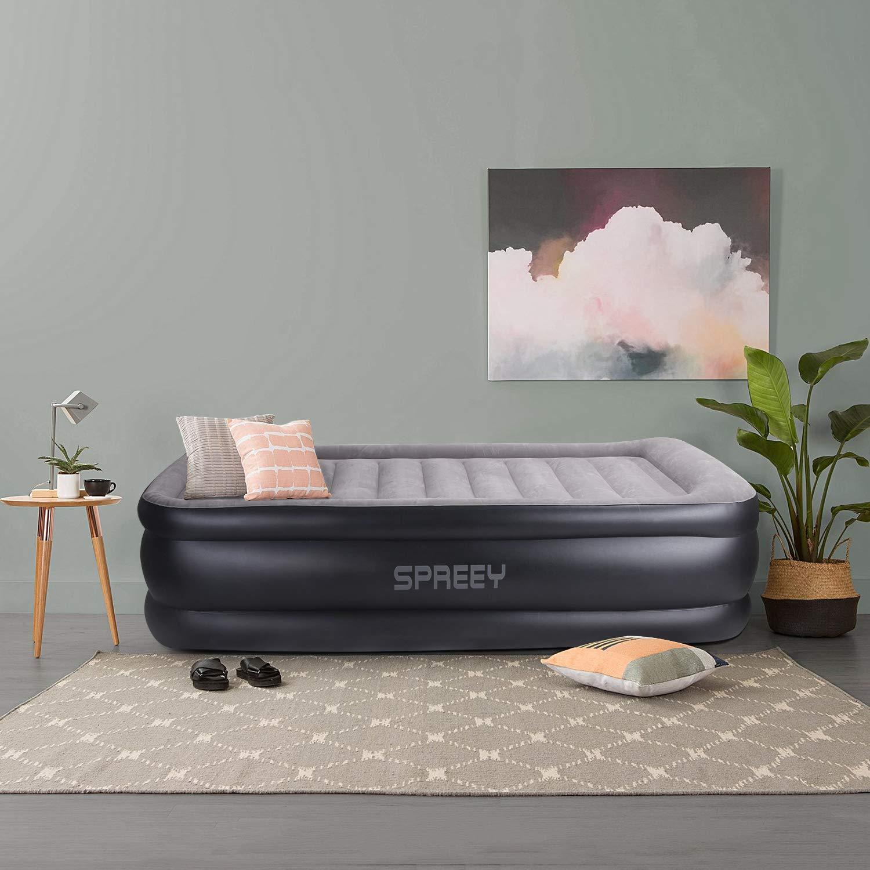 SPREEY - Colchón Hinchable eléctrico para una Persona, Cama de ...