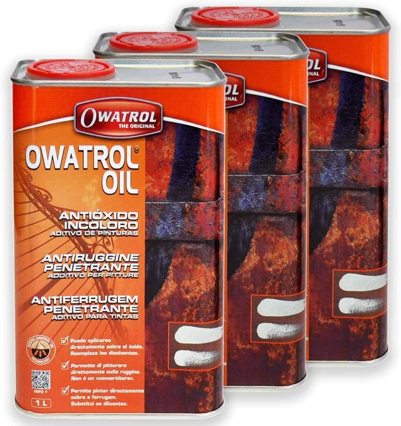 3 X Owatrol Öl 1l Rostschutz Holzschutz Rustol Oil Baumarkt