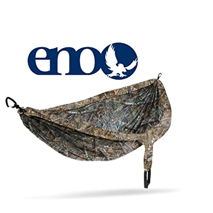 Eagles Nest Outfitters ENO DoubleNest Camo, Portable Hammock for Two, Realtree Edge:Plain