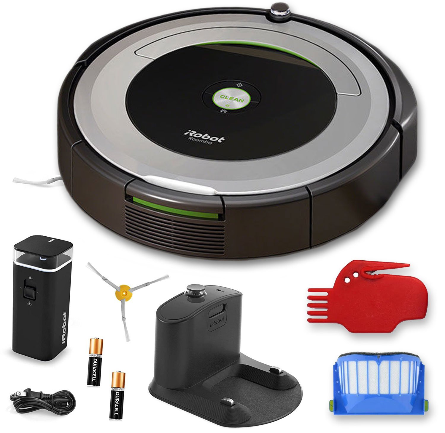 iRobot Roomba 690 Wi-Fi Connected Robotic Vacuum Cleaner + 1 Dual Mode Virtual Wall Barrier (With Batteries) + Extra Filter + More by iRobot (Image #7)