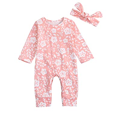 0f693875d9c0 Amazon.com  GRNSHTS Newborn Baby Girl Clothes Cute Floral Long ...