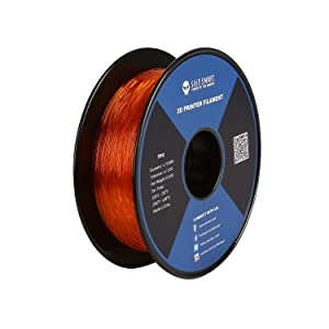SainSmart - 101-90-162 Orange Flexible TPU 3D Printing Filament, 1.75 mm, 0.8 kg, Dimensional Accuracy +/- 0.05 mm