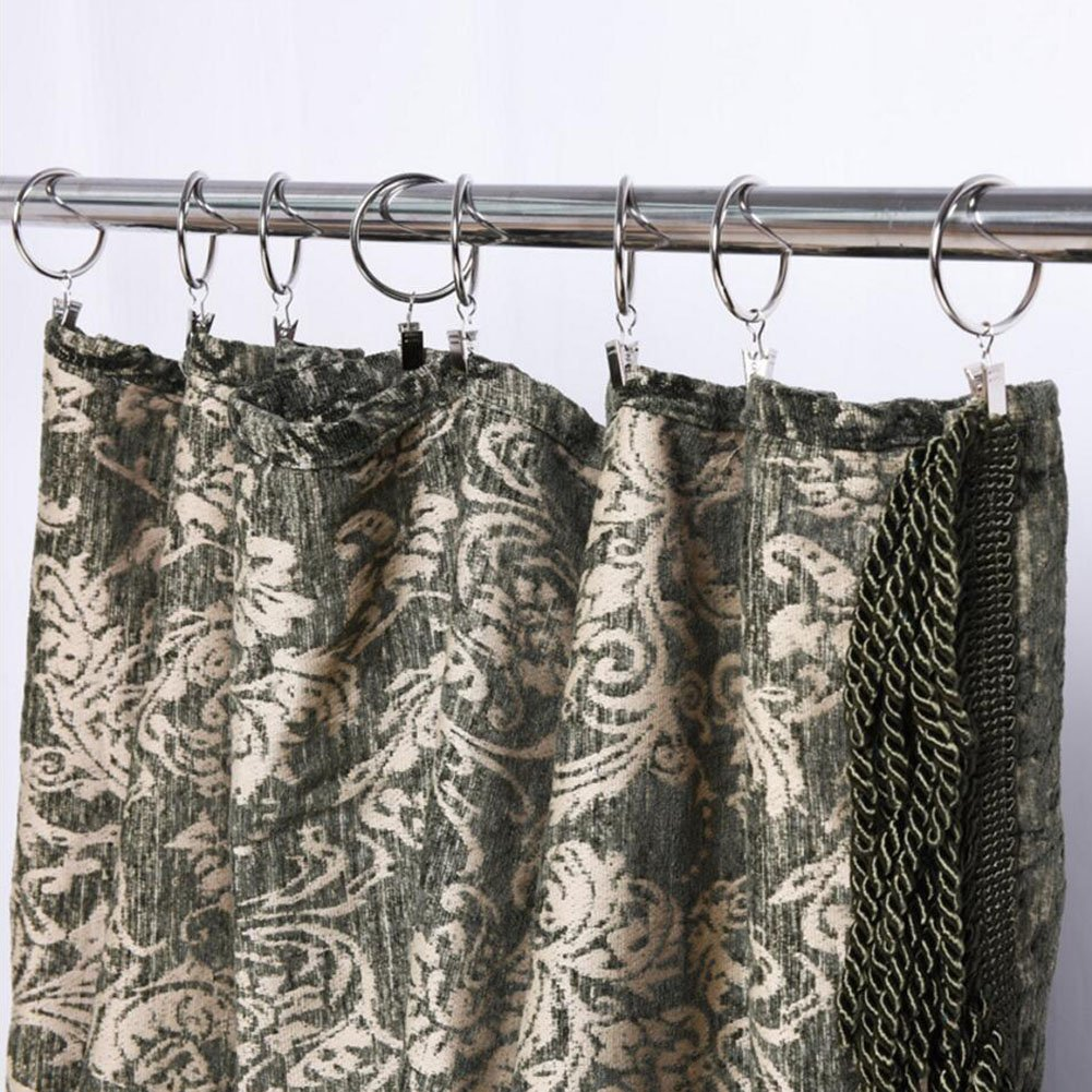 Coideal Copper Shower Curtain Clip Rings Set, 30 Pack Rustproof Metal  Drapery Rod Ring With ...