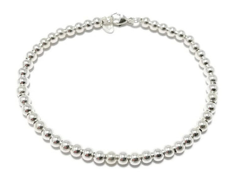 4mm Silver Ball Bracelet 925 Sterling silver ball bead bracelet 4mm Silver Beaded Bracelet bridal bracelet wedding jewelry bridal jewelry