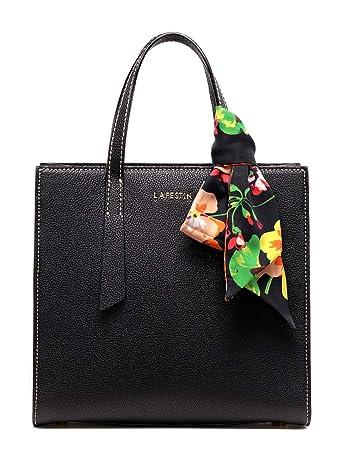 6f3da399a86 LA FESTIN Women Tote Purse Fashion Leather Black Shoulder Bags Top-Handle  Handbag