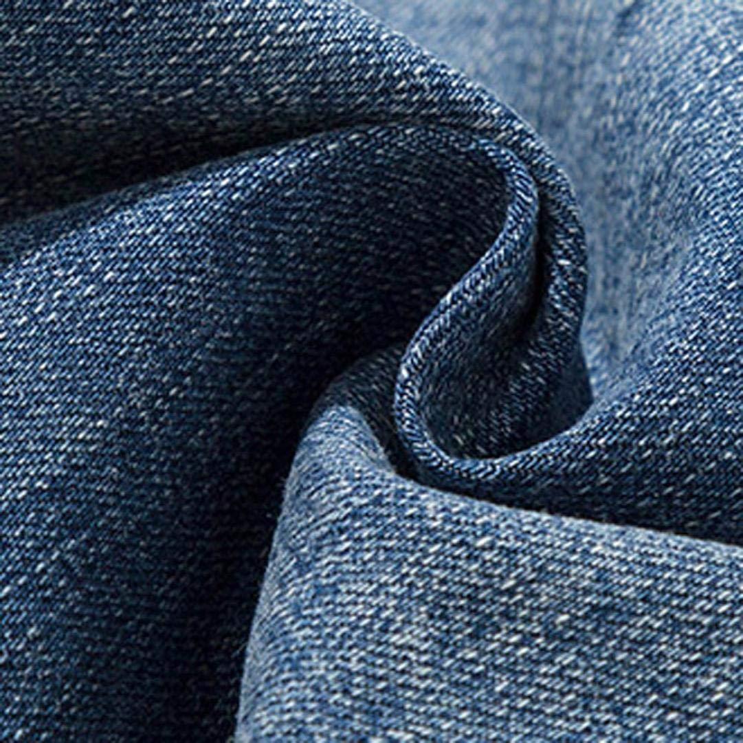 Alimao 2018 Men's Pants Casual Autumn Zipper Patchwork Denim Vintage Wash Hip Hop Trousers Jeans Pants by Alimao (Image #7)