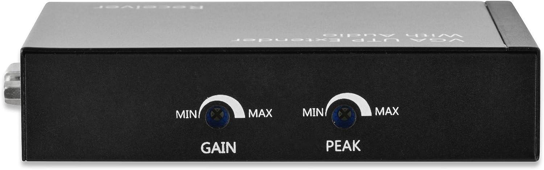 Network Receiver, 300 m, Negro, 2 A, 5 W, 0-70 /°C DIGITUS DS-53450 ampliador de Red Network Receiver Negro Repetidor de Red