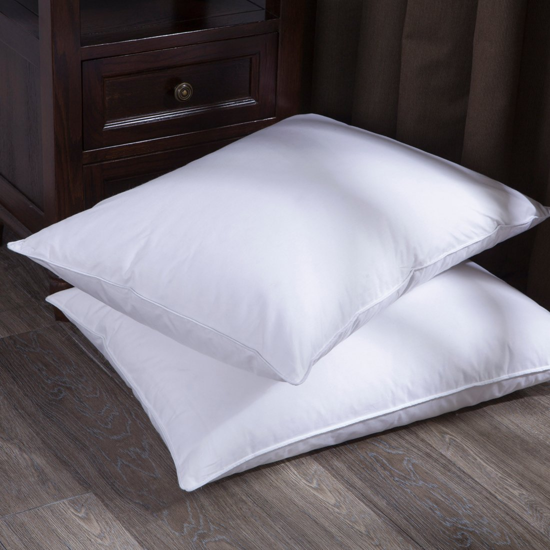 sleeping of pillow white set pillows bed rty for puredown down feather thread count cotton size fabric qwe king