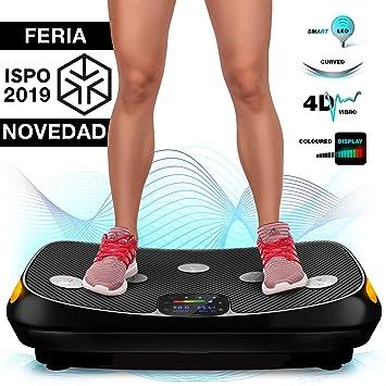 ¡Novedad Feria 2019! Plataforma vibratoria 4D VP400, Pantalla táctil con tecnología Smart LED, Superficie Amplia, Incluye Reloj Remoto, Bandas de ...
