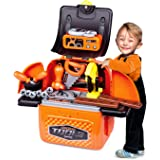 iLifeTech Construction Tool Toys Pretend Play Toolbox Toy for 3-12 Years Old Boys and Girls.