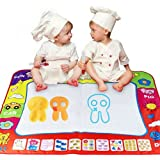 pgmrw23h Children's Drawing Board, 80cm * 60cm Baby Graffiti Game Pad Color Water Canvas Children's Imagination Drawing Toys Puzzle Writing Blanket Toys