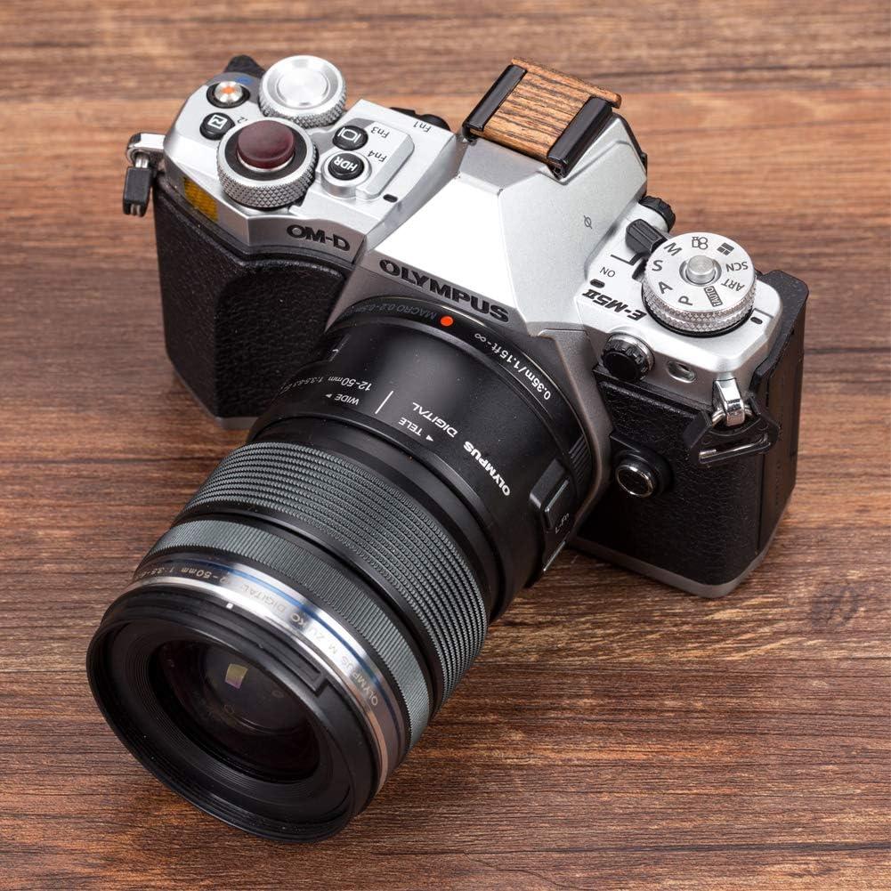 VKO Wood Camera Hot Shoe Cover Compatible with Fujifilm X-T30 X-T20 X-T10 X-T3 X-T2 X-T100 X-PRO2 X-PRO1 X-E3 X-A5 X-H1 X100F X100S X100T X30 X70 Cameras Hot Shoe Protector Cap 1 PCS Black