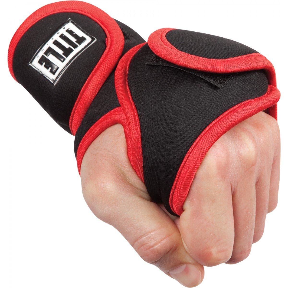 デラックスWeighted手袋 B01BPGJZ80 ブラック/レッド 1ポンド