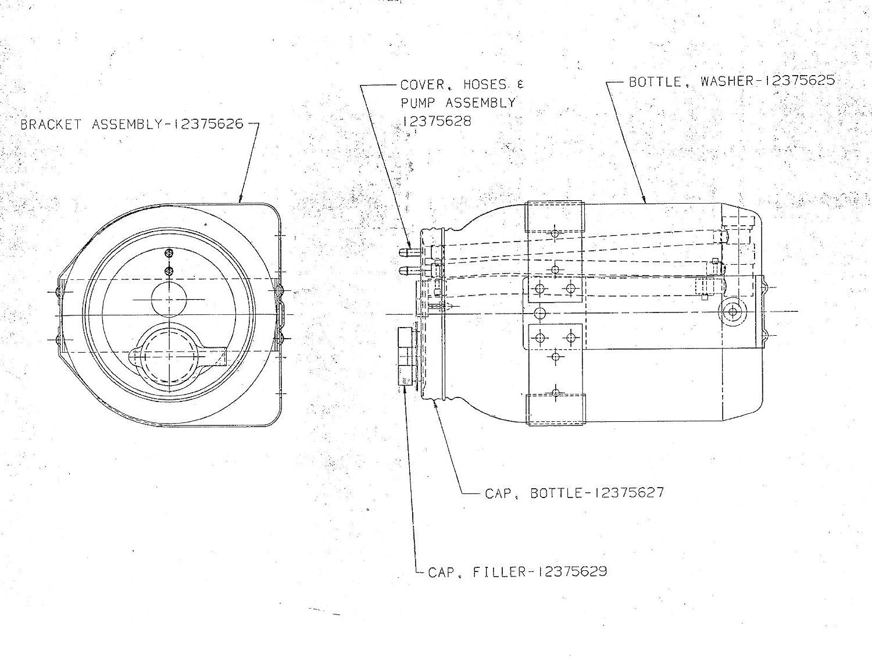 Kaiser Pump W Cap For Washer Reservoir Kit M939 M915 1950 Wiring Diagram 12375628 2540 01 339 8594 Automotive