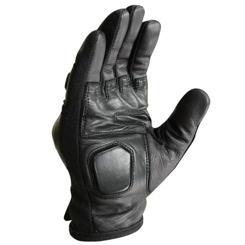 Black leather combat gloves - Black Leather Combat Gloves 34