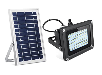 Semintech Solar Flood Lights 54 LED 500 Lumens 6W Solar Panel Outdoor Solar  Light Waterproof Security
