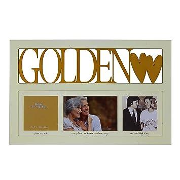 Amazonde Bilderrahmen Zum 50 Hochzeitstag Goldene