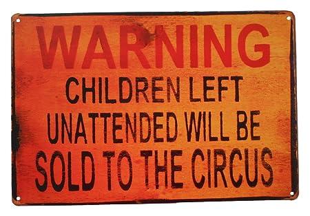 strosportsandtech circo vender niños Funny Retro Vintage Tin ...