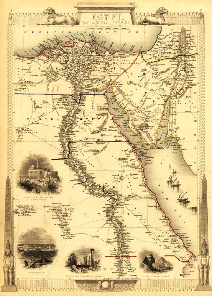 【通販 人気】 エジプトand Arabia Art – パノラマMap Canvas Tote Tote Bag Bag LANT-19869-TT B00QPZ4VRM 12 x 18 Art Print 12 x 18 Art Print, あっときれいあーる:dfe95dd4 --- senas.4x4.lt
