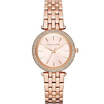 Michael Kors MK3431 Mini Darci Rose Gold Tone Womens Quartz Watch Gift set