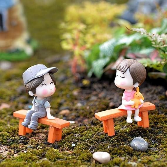 MagiDeal 5x Miniatur Brücke Terrarium Figur Puppenhaus Fee Garten Dekor