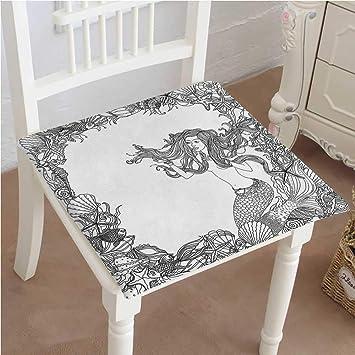 Amazon.com: Mikihome - Cojín de asiento con forma de sirena ...