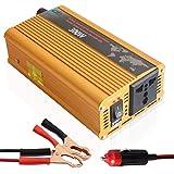 Tellunow Convertisseur de Puissance 300W 12V DC à 220V Convertisseur 230V AC Onde sinusoïdale Pure Solar avec C'est pour l'extérieur, à la Maison