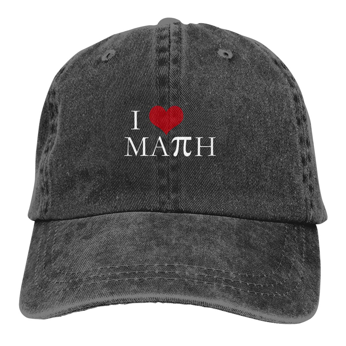 I Love Math with PI Sign Fashion Adjustable Cowboy Cap Baseball Cap for Women and Men