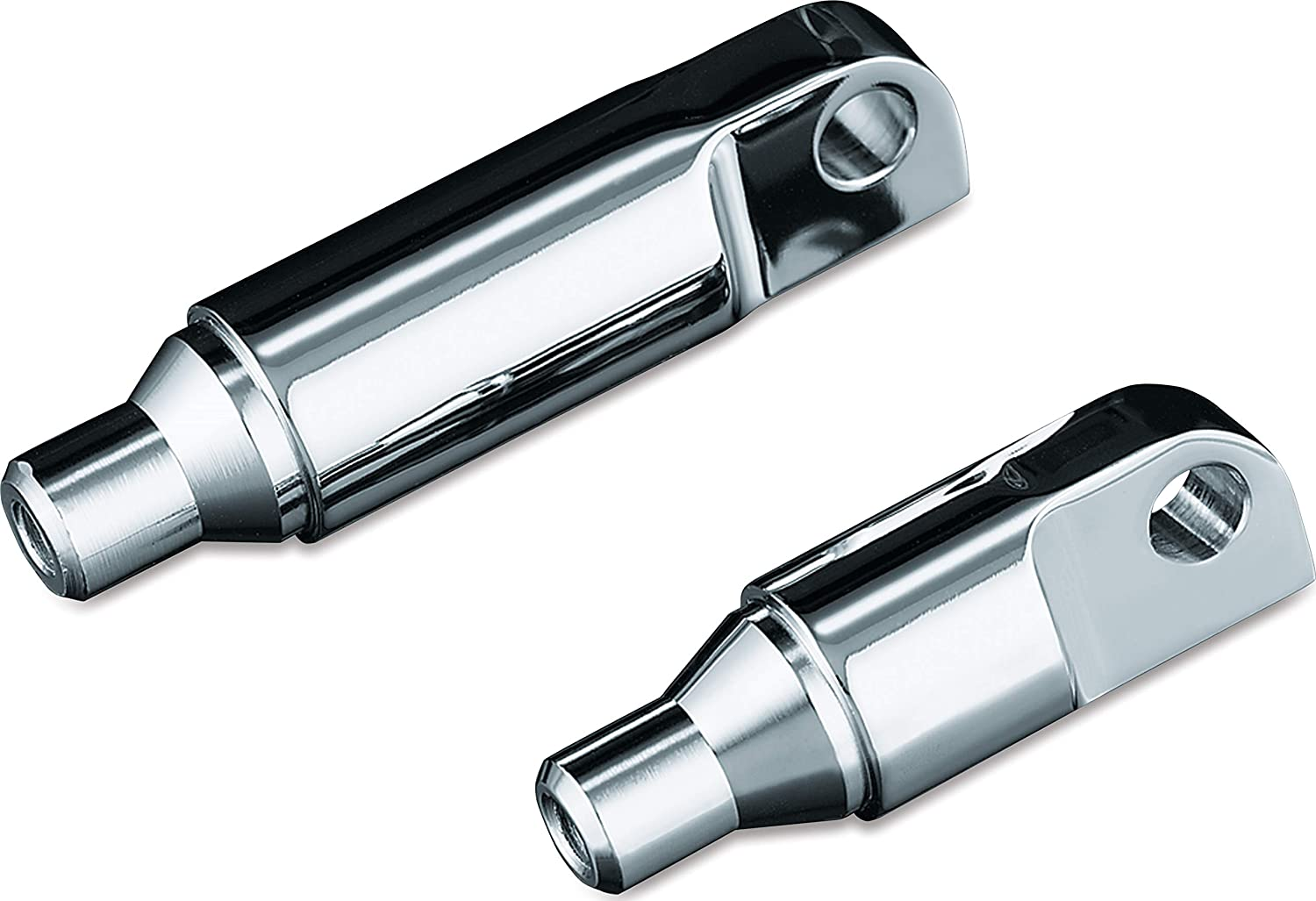 1 Pair 1-1//2 Male Mount ISO Footpeg Extensions Chrome Kuryakyn 8063 Motorcycle Foot Control Component