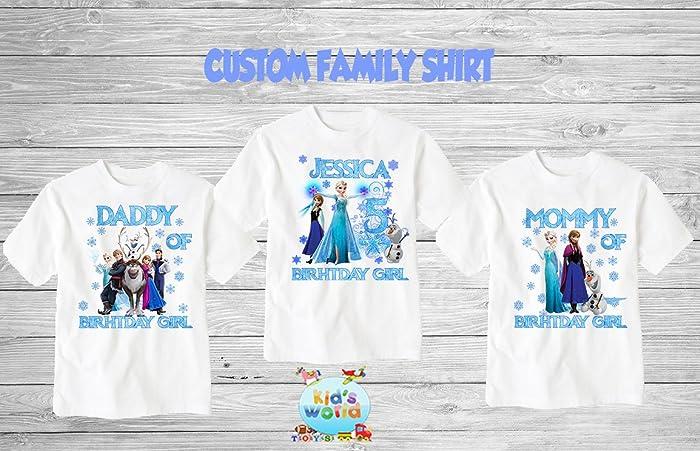 Amazon Frozen Birthday ShirtCustom Shirtpersonalized Custom Shirt Family Shirtbirthday Shirtkids D52 Handmade