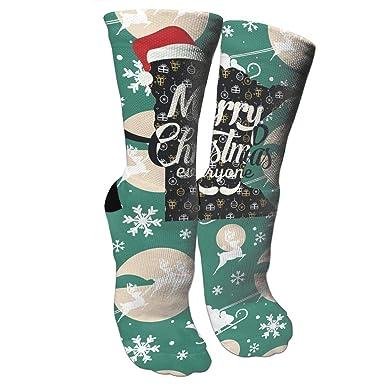 Amazon.com: Merry Christmas Minnesota Crazy - Calcetines de ...