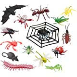 SUPER TOY Insect Reptile Animals Toy Figure Playing Set of 17
