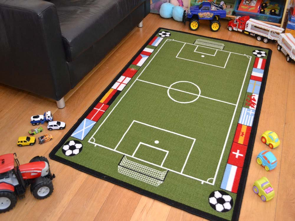 A2Z 4 Kids® Childrens Large Football Pitch Play Mat. Size 80cm x 120cm Rugs Supermarket