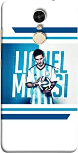ColorKing Football Messi Argentina 05 White shell case cover for Xiaomi Redmi 5
