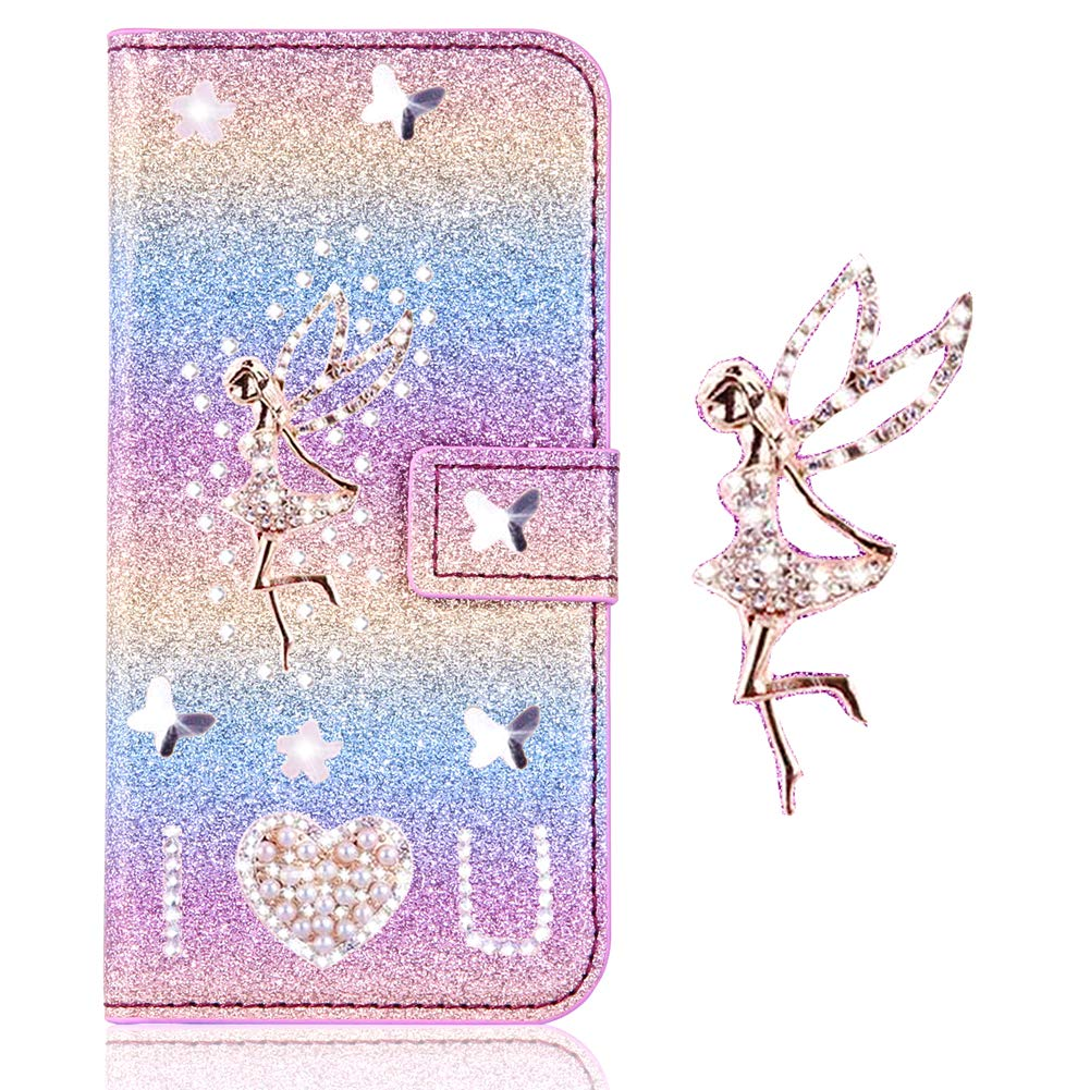 Funkeln Bling Glitzer Diamant Slim H/ülle Leder Bumper Flip Folio Wallet Stand Card Slots Pocket Ansehnliche Modisch BookStyle f/ür Samsung A3 2017