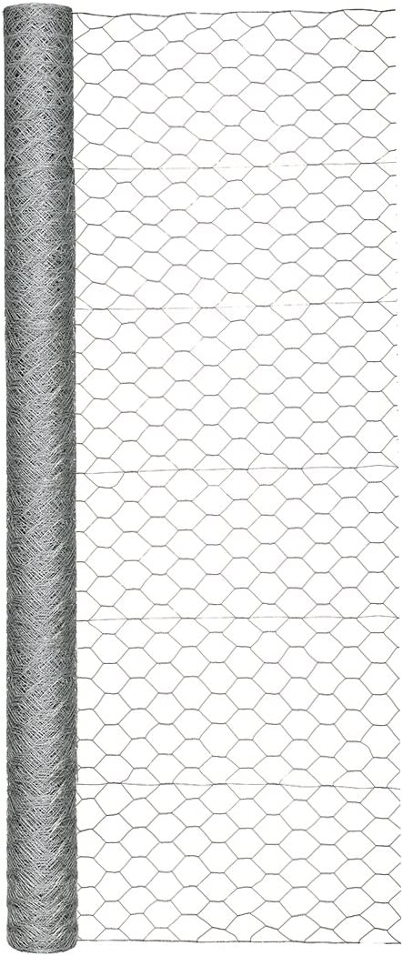 Garden Zone 72 Inches x 150 Feet – 2-Inch Openings – Galvanized Poultry Hex Wire Netting – For Chicken Fencing and Enclosures around Garden and Farm